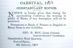 Constabulary-Notice-for-Carnival-1917-from-the-Carnivals-of-TT-by-Michael-Anthony