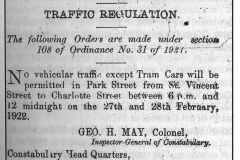 Traffice-Regulations-Notice-for-Carnival-1922-from-Carnivals-of-TT-by-Michael-Anthony