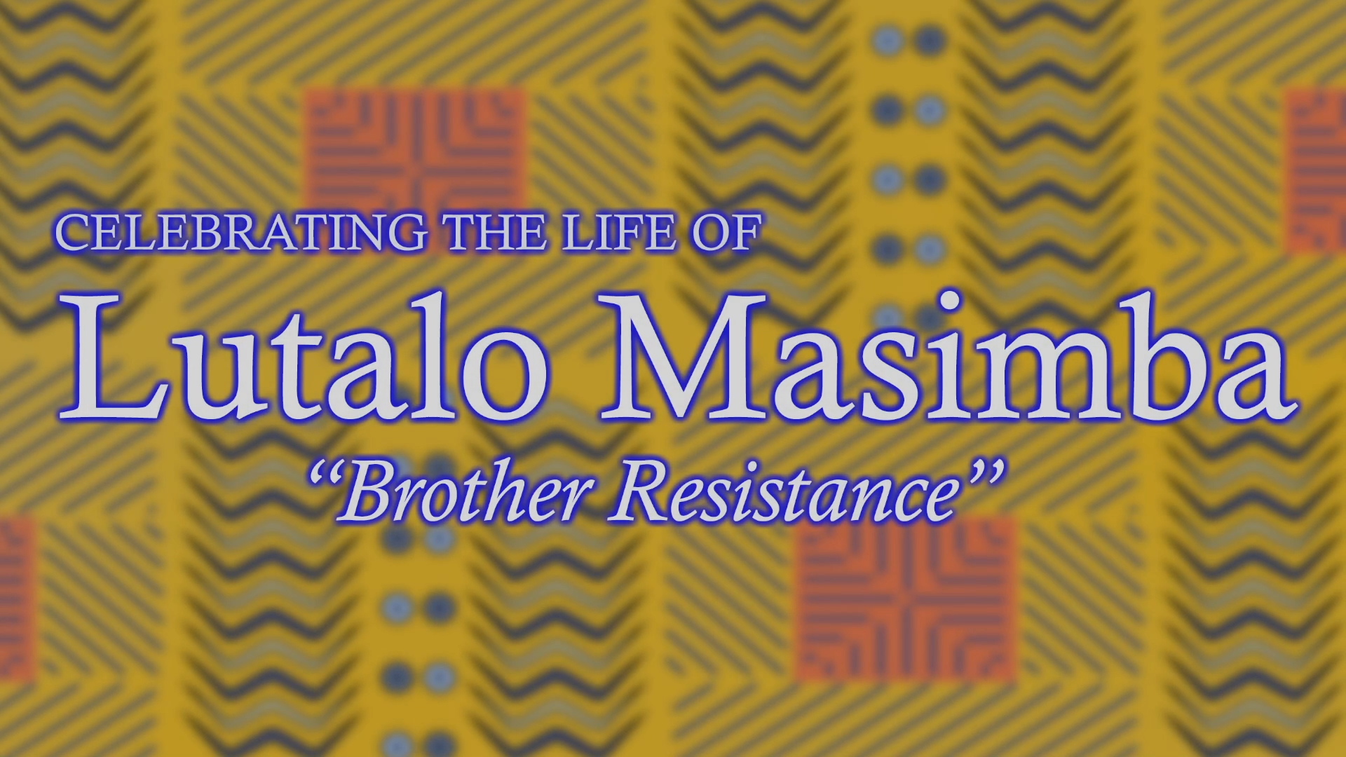 Celebrating The Life of Brother Resistance